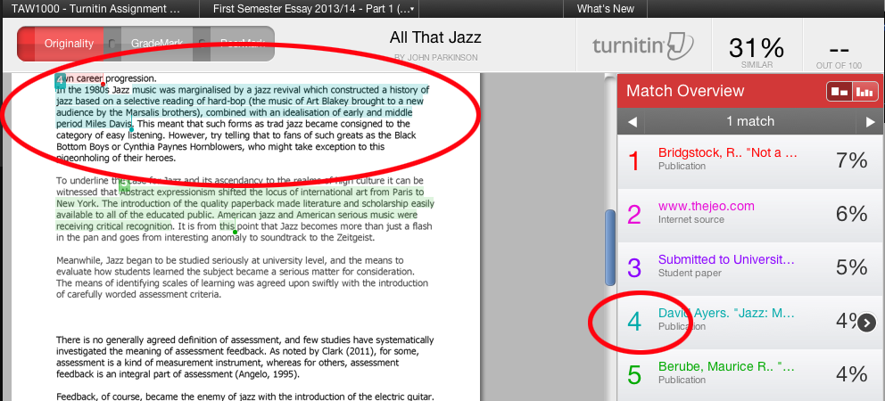 essays turnitin Has anyone found a good way to use turnitin to check essay questions in quizzes this came up in an impromptu canvas consult the other day, and i am.